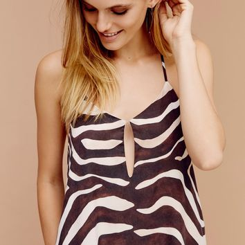 Free People Zebra Maxi Dress