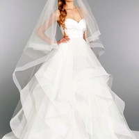 2016 New White or Ivory Sexy A-line Taffeta Organza Wedding Dress Bridal Gown Custom Made Size Free shipping