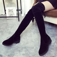 2016 Sexy Women Thigh High Boots Over The Knee Classic Autumn Winter Ladies Shoes Woman Thick Heels Mujer Zapatos Designer