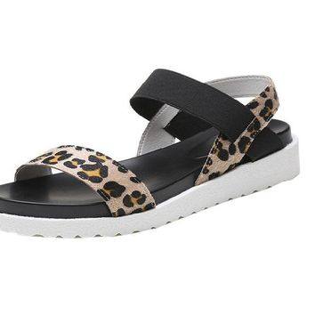 New Women Spring Summer Leather Flat Sandal