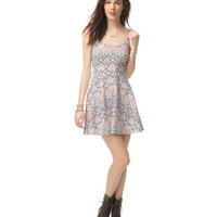 Aeropostale Womens Fiesta Geo Dress - Beige,