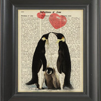 Penguin in Love -printed on Definitios of Love page. 250Gram paper.