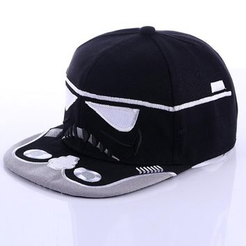 Star Wars Cavalry Warrior Snapback Cap Cool Baseball Cap Hip-hop Hat Black