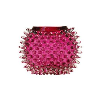 Union Street Glass UFVS-CY Urchin Cranberry Pink Small Flat Vase