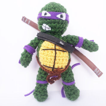 DONATELLO NINJA TURTLE mutant  tennage awesome leonardo raphael  michelangelo amigurumi crochet foamy amigurumi