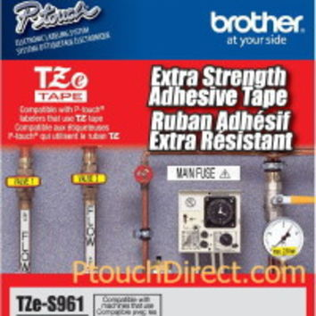 Brother Tzes961 Laminated Extra-Strength Black Matte Silver 1.5 Tape