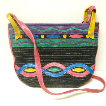 1980s Purse - Rattan and Leather