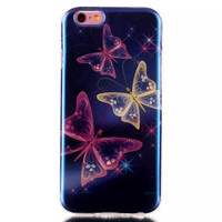 Butterfly Blue Light creative case Cover for iPhone & Samsung Galaxy S6  Unique iPhone 6s Plus
