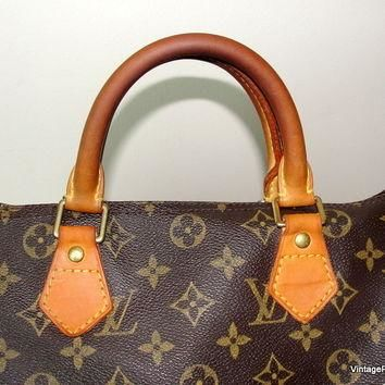 Vintage Louis Vuitton Speedy 30 Bag Authentic Monogram Handbag