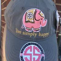 Simply Southern Live Simply Happy Hat- Grey