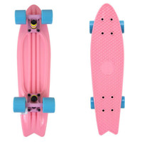 Pink Fish Skateboard Bird Tail Banana Bantam Retro Plastic Cruiser Globe Penny