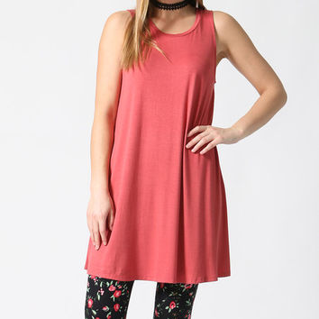 Paprika Sleeveless Swing Tunic - Plus