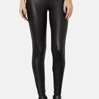 Topshop Faux Leather Leggings