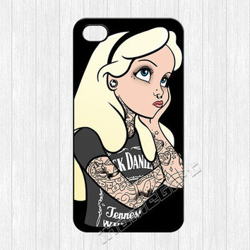 Alice in Wonderland iPhone 4 Case,Tattooed Alice in Wonderland iPhone 4 4g 4s Hard Case,cover skin case for iphone 4/4g/4s case,More styles