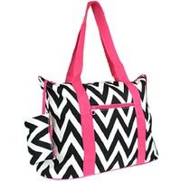 Large Roomy Canvas Tote Purse Beach Travel Bag w/ Attached Coin Purse