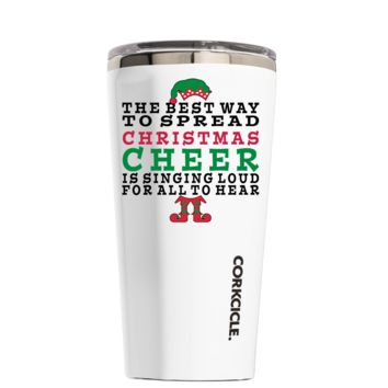 Corkcicle 16 oz The Best Way to Spread Christmas Cheer on White Tumbler
