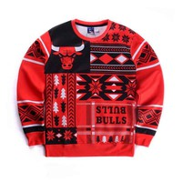 Chicago Bull Christmas Crewnecks
