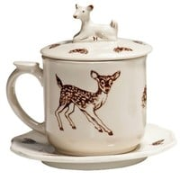 Covered Woodland Fawn Mug