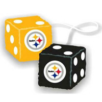 Pittsburgh Steelers NFL 3 Car Fuzzy Dice