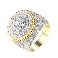 Solitaire Cluster Set Ring 14k Gold 925 Silver Custom Simulated Diamond Iced Out