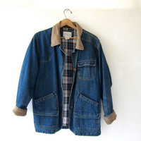 STOREWIDE SALE...vintage 90s oversized denim jean jacket coat