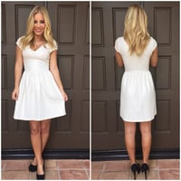 Pearls & Gold Babydoll Dress