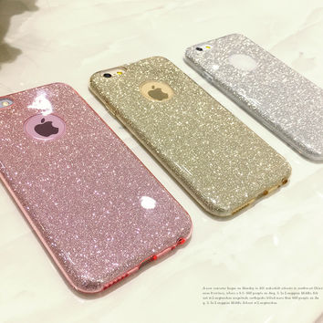 Glitter Bling Cute Candy Cover Soft Gel Coque For iPhone 5 5S SE 6 6S 7 Plus For Samsung Galaxy S5 S6 S7 Edge a3 a5 2016 J5 Case