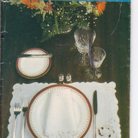Pattern for vintage cutwork embroidery linens includes non-washable iron-on transfer for 4 placemats and 4 napkins  Vogue 8560 UNUSED