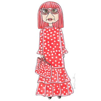 Little Yayoi Kusama Illustration