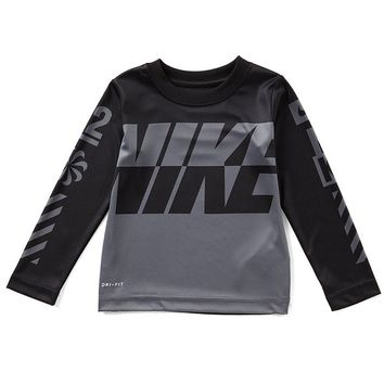 Nike Little Boys 2T-7 Sublimation Logo-Detailed Long-Sleeve Tee | Dillards