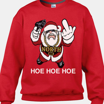 Funny Santa Shirt, Santa Sweatshirt, Santa Sweater, Ugly Christmas Sweater, Christmas Sweater Party, 2014 Sweater Party Ideas, Ugly Sweater