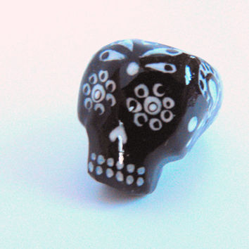 Dreadlock Bead 10mm Dread Beads Sugarskull Sugar Skull One of A Kind Hand Cast Hand Painted Resin Bead for Dreads