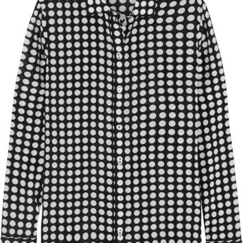 Bottega Veneta - Polka-dot silk-georgette shirt