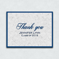 Pack of Thank You Cards, Graduation Thank You Notes - Sets of 10 & 15