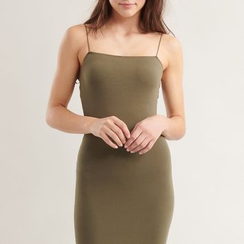 Bungee Strap Bodycon Dress