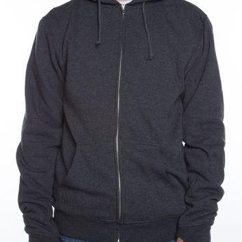 Lightweight Sherpa Lined Hoodie Charcoal/Natural