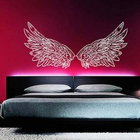 Wall Decal Vinyl Sticker Decals Art Home Decor Murals Big Wings Bird Angel God Guardian Nursery Children Kids Bedroom Dorm Window Office Decals AN304