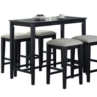 "Black Grain 24""X 48"" Counter Height Kitchen Table"