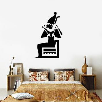 Wall Decal Pharaoh King Egypt Room Decor Vinyl Stickers Art Mural Unique Gift (ig2585)