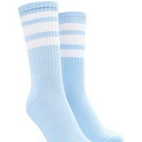 Varsity-Striped Crew Socks