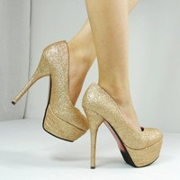 Fashion gold  Stilettos