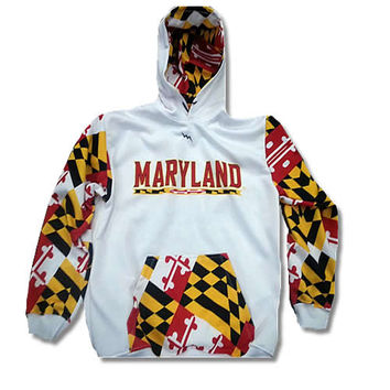 Sweats Maryland Flag Hoodie - Maryland Flag Sweatshirts - Made in Maryland