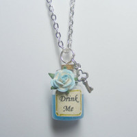 Drink Me Alice in Wonderland Bottle Necklace Miniature by NeatEats