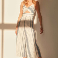 Ecote Yarn Dyed Striped Cutout Jumpsuit | Urban Outfitters