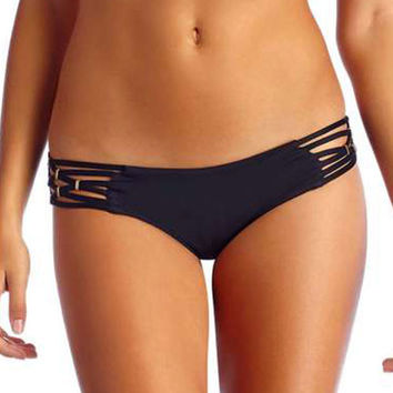 Vitamin A Swimwear Eco Black Amber Boyshort | Elite Fashion Swimwear