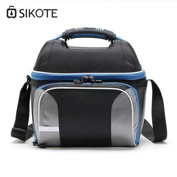SIKOTE Shoulder Strap Lunch Bag Keep Fresh Portable Picnic Women Work Waterproof Lunch Box Insulation 14L Cooler Bags