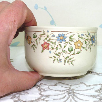 Open Sugar Bowl, BHS, Country Garland Design, British Home Stores, Made in England, Sadler Pottery, Homewares, Dinnerware, Tableware