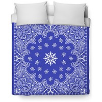 Blue Bandanna Duvet Cover