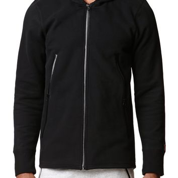 Modern Amusement Full Zip Toggle Hoodie - Mens Hoodies - Black
