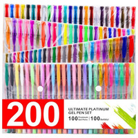 GLAM 200 Ultimate Gel Pen Set For Adult Coloring Books